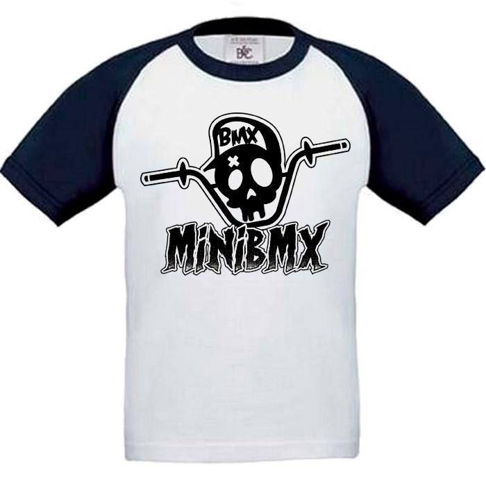 Camiseta Beisbol MiniBmx Azul